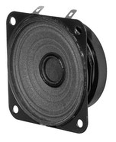 "Quam 30C25Z8OT 3"" 4W 8 Ohm Square Weather Resistant Speaker 30C25Z80T"