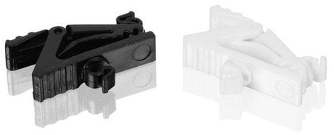Countryman H6CLIPB Microphone Cable Clips for H6 Lavaliers in Black and White H6CLIP-B