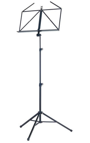 K&M Stands 10065 Topline Music Stand in Black 10065-BLACK