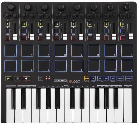Reloop Keypad USB Keyboard with Faders, Pads and Ableton Live Lite 9 KEYPAD