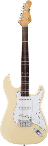 G&L Guitars S-500 Tribute Series Electric Guitar with Vintage White Finish S-500-VWH
