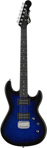 G&L Guitars Superhawk Deluxe Jerry Cantrell Blue Burst Tribute Series Signature Electric Guitar SUPERHAWK-DLX