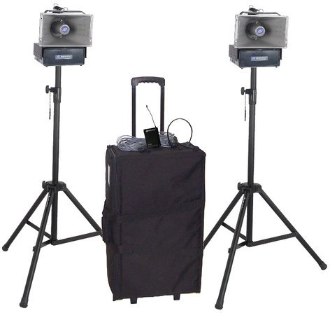 AmpliVox SW642 Deluxe Wireless Speaker Half Mile Hailer Kit SW642