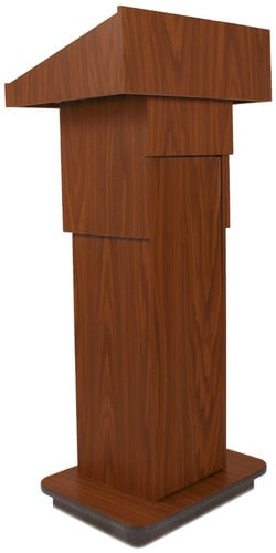 """AmpliVox W505A 39"""" - 45"""" Executive Adjustable Column Lectern without Sound System W505A"""