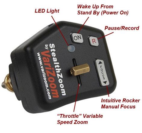 Varizoom VZ Stealth Zoom & Focus Control for Prosumer DV Camcorders w/ LANC Jack VZ-STEALTH