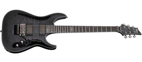 Schecter Guitars Hellraiser Hybrid C-1 FR Trans Black Burst Electric Guitar with Floyd Rose Bridge HELLRAISER-HH-C1-FR