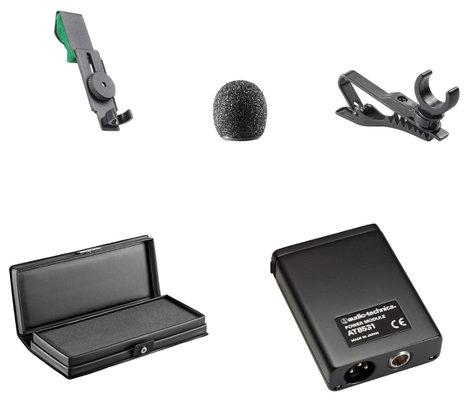 Audio-Technica AT831B Miniature cardioid condenser lavalier/instrument microphone (battery/phantom) AT831B
