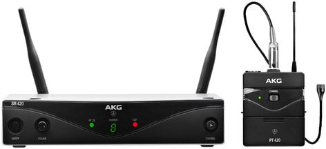 AKG WMS420 Presenter Set Multi-Channel Wireless Microphone System with C417L Lavalier WMS420-PRESENTER