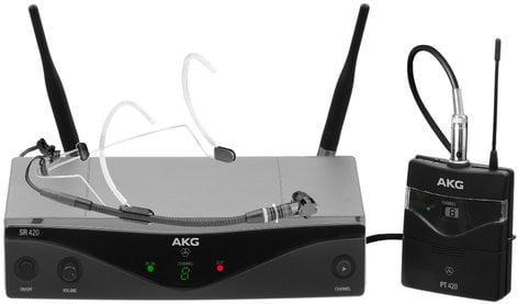 AKG WMS420 Headset Set Wireless Microphone System with C555 L Headworn Condenser Mic WMS420-HEADSET