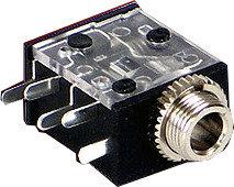 Switchcraft 35RAPC4BH3  3.5mm PC Horizontal Mount Jack 35RAPC4BH3