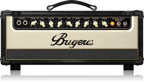 Bugera V22 HD Infinium 22W 2-Channel Tube Guitar Amplifier Head with Reverb V22HD