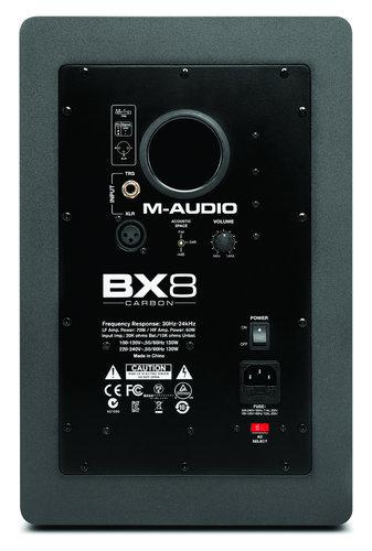 """M-Audio BX8 Carbon 8"""" 2-Way Active Monitor BX8-CARBON"""