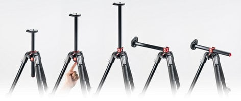 Manfrotto MT190XPRO4 190 Aluminium 4-section Tripod with Horizontal Column MT190XPRO4