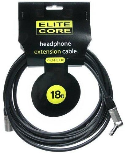 Elite Core Audio EC-PRO-HEX18 18 ft Headphone Extension Cable EC-PRO-HEX18
