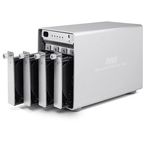 OWC M3QX2T12.0S Mercury Elite Pro Qx2 12 TB 4-Bay RAID Hard Drive OWCM3QX2T12.0S