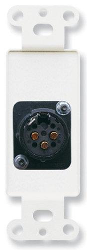 Radio Design Labs DB-XLR3F  3 Pin Solder Type Female XLR Jack on Black Decora Wall Plate DB-XLR3F