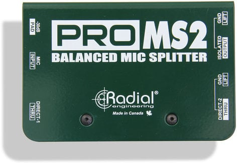 Radial Engineering ProMS2 Passive Microphone Splitter  PROMS2