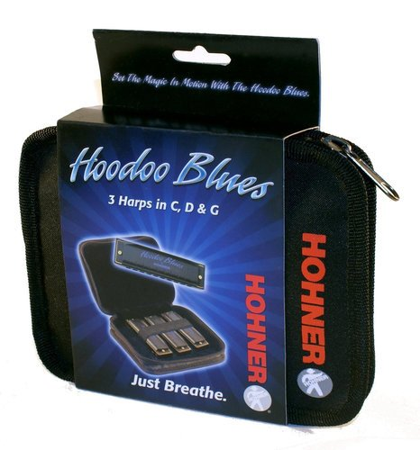 Hohner HBP 3-Pack of HooDoo Blues Harmonicas in C,D and G HBP