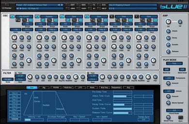 Rob Papen BLUE-II-UPGRADE Blue II Synthesizer Virtual Instrument Upgrade from v1 BLUE-II-UPGRADE
