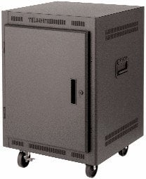 "Lowell LPR1427PGT  14RU 27"" Deep Portable Rack LPR1427PGT"