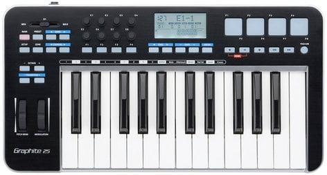 Samson Graphite 25 25 Note USB MIDI Keyboard Controller with Komplete Elements GRAPHITE-25