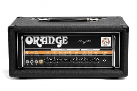 Orange Amplification Dual Dark 50 50W 2-Ch Tube Guitar Amplifier Head DUAL-DARK-50