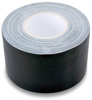 "Hosa GFT-459BK BULK 60 Yard Roll of 4"" Wide Black Gaffer Tape GFT-459BK-BULK"