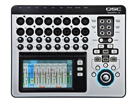QSC TouchMix-16 16-Channel Compact Digital Mixer with Touchscreen TOUCHMIX-16