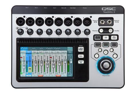 QSC TouchMix-8 8-Channel Compact Digital Mixer with Touchscreen TOUCHMIX-8