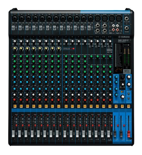 Yamaha MG20XU 20-Channel Mixer with Built-In SPX Digital Effects and Onboard 2 In/2 Out USB Interface MG20XU