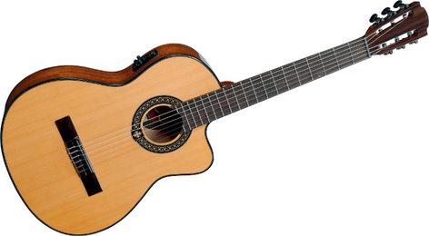 Lag Guitars Occitania OC66CE Natural Finish Classical Cutaway Acoustic/Electric Guitar with DirectLag Plus Electronics OC66CE