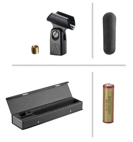 "Audio-Technica AT897 Shotgun Mic, Line + Gradient Condenser, 11"", Battery or Phantom Powered, AT-897 AT897"