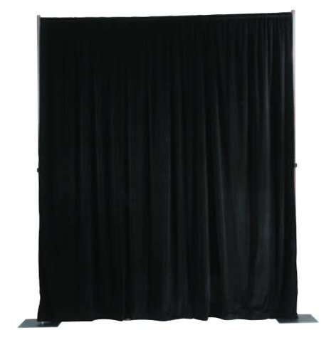 Da-Lite 36793 4'x13' Ultra Velour Drapery Panel in Black 36793