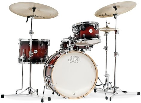 DW Frequent Flyer Design Series 4-Piece Shell Pack in Tobacco Burst DDLG2004TB