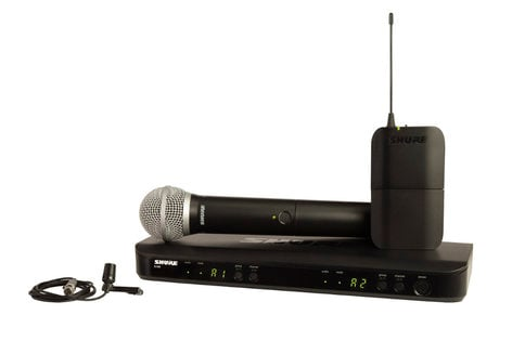 Shure BLX1288/CVL-J10 Dual Channel Combo Wireless System with PG8 Handheld and CVL Lavalier Microphones, 584-608 MHz BLX1288/CVL-J10