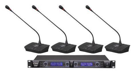 Pyle Pro PDWM4700  4-Ch Desktop UHF Wireless Microphone System PDWM4700