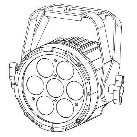 Elation Pro Lighting SIXPAR 100IP LED Par Fixture with 7x12W RGBAW+UV LEDs SIX-PAR-100-IP