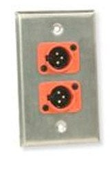 Whirlwind WP2/2ND  2-Gang Wall Plate Punched for (2) Neutrik XLR WP2/2ND