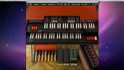 Arturia Vox Continental V Vintage Organ Software Virtual Instrument VOX-CONTINENTAL-V