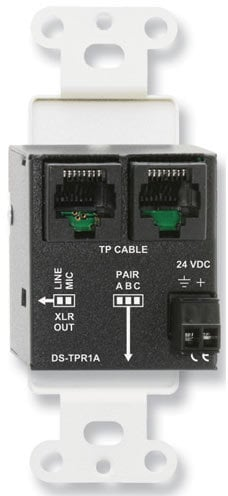 RDL DS-TPR1A Active Single Pair Receiver - Twisted Pair Format-A - XLR Mic/Line Output DS-TPR1A