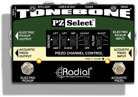 Radial Engineering PZ-Select Tonebone 2-Channel Pickup Selector PZ-SELECT