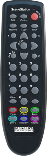 Interactive Technologies SS-IR33 SceneStation Programmer's Remote SS-IR33