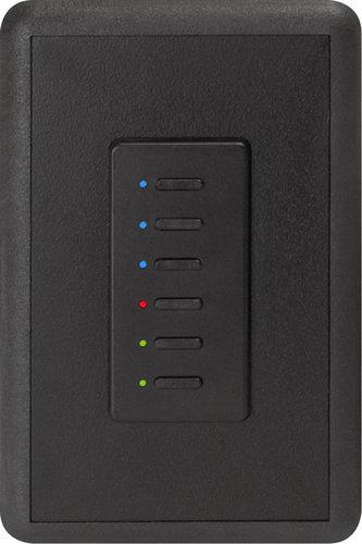 Interactive Technologies ST-UN6-CB-RGB Ultra Series Digital 5-Wire 6 Button Station in Black with RGB LED Indicators ST-UN6-CB-RGB