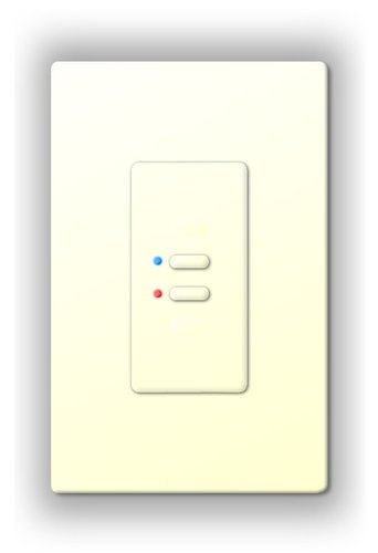 Interactive Technologies ST-UN2-CW-RGB Ultra Series Digital 5-Wire 2 Button Station in White with RGB LED Indicators ST-UN2-CW-RGB