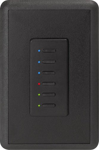 Interactive Technologies ST-UD6-CB-RGB Ultra Series Digital 2-Wire 6 Button Station in Black with RGB LED Indicators ST-UD6-CB-RGB