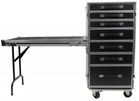 Elite Core Audio OSP PRO-WORK Case with 7 Drawers and Table OSP-PRO-WORK
