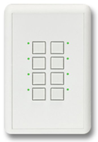 Interactive Technologies ST-MN2-CW-RGB Mystique 5-Wire 2 Button Network Station in White with RGB LED Indicators ST-MN2-CW-RGB