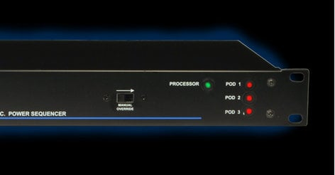 Juice Goose SQ-1500 3 Sequenced 15 Amp Rackmount Power Distribution System SQ1500