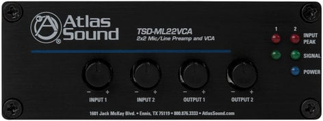 Atlas Sound TSD-ML22VCA  2x2 Microphone / Line Preamp and VCA TSD-ML22VCA