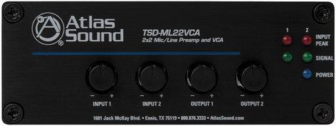 Atlas Sound TSD-ML22VCA  2x2 Microphone / Line Preamp and VCA TSD-ML22VCA